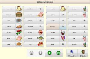 Small business Bistro - definiowanie grup
